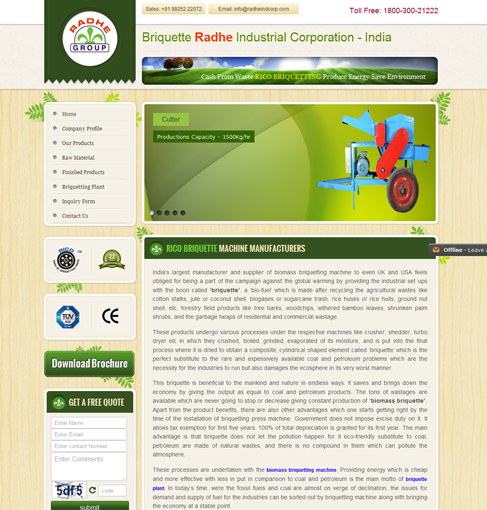 Briquette - Radhe Ind-Corp